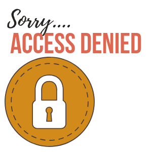 "A graphic of a padlock with the text ""Sorry, access denied"""