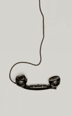 Photo of black phone headset